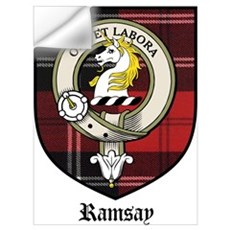 Ramsay Clan Crest Tartan Wall Decal
